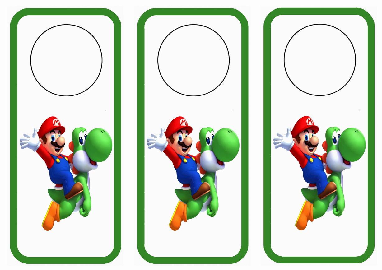 Super Mario Door Hangers Birthday