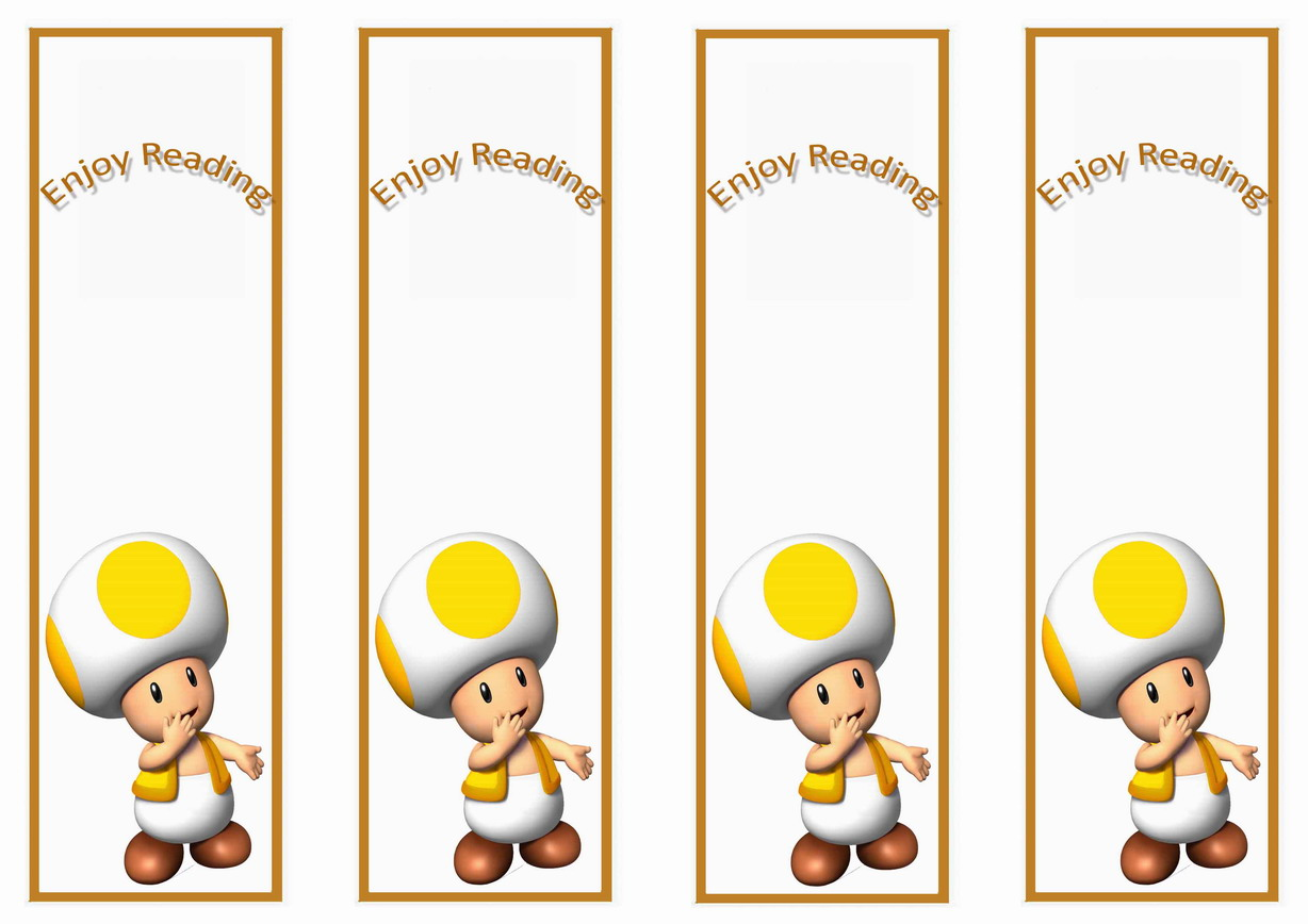 Super Mario Bookmarks Birthday