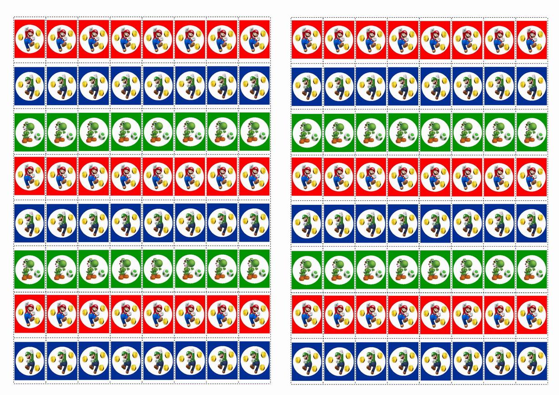 Super Mario Stickers Birthday