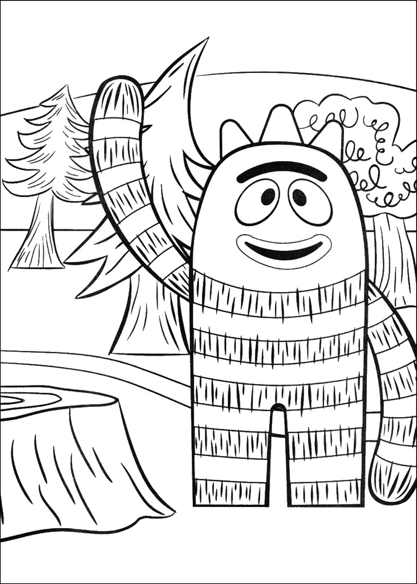 Free coloring pages yo gabba gabba - More From My Site Paddington Bear Coloring Pages
