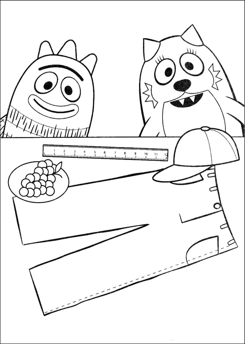 Yo Gabba Gabba Coloring Pages