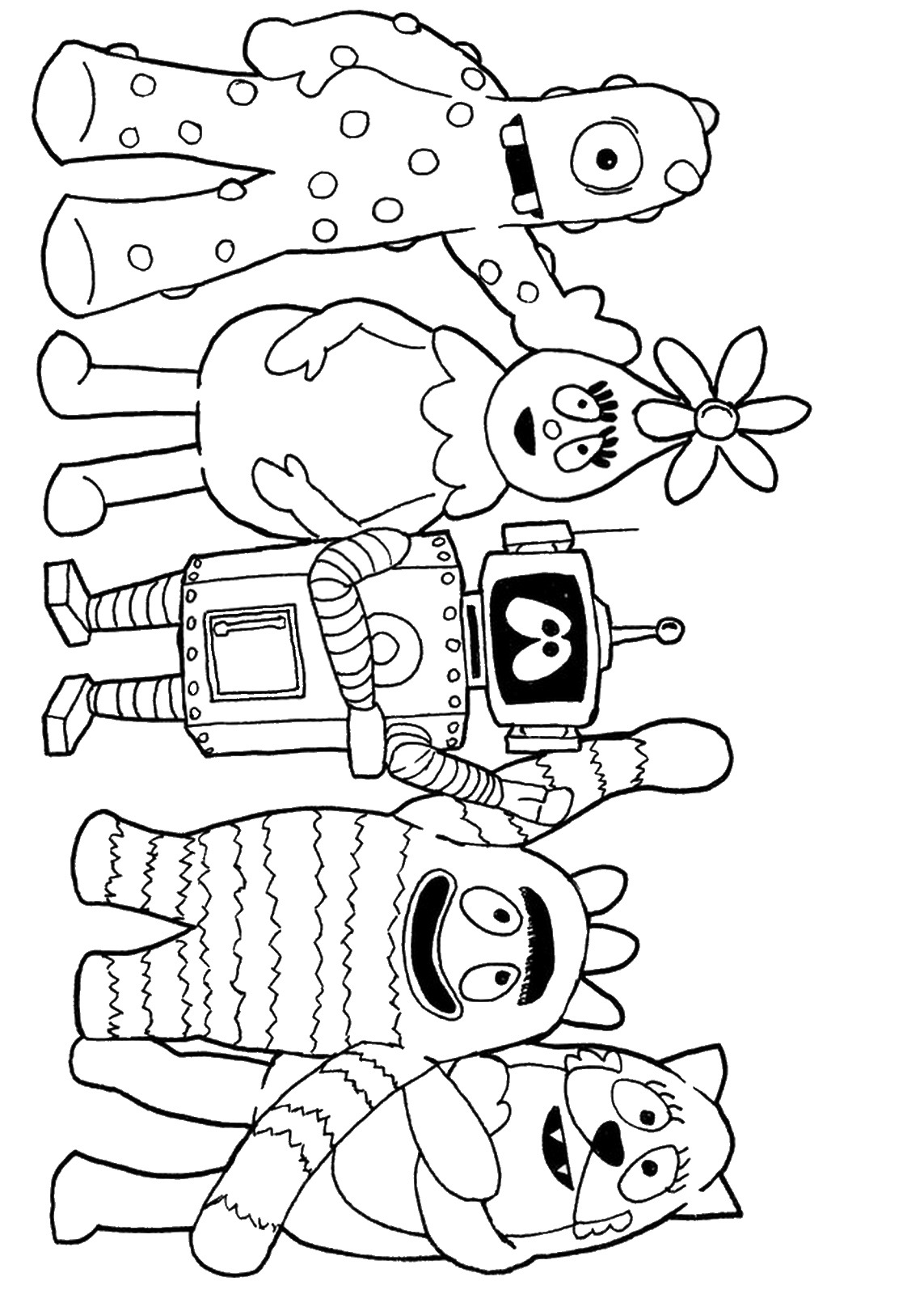 Yo gabba gabba coloring pages birthday printable for Yo gabba gabba coloring pages