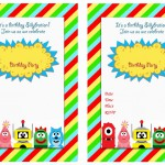 Yo Gabba Gabba Birthday Invitations