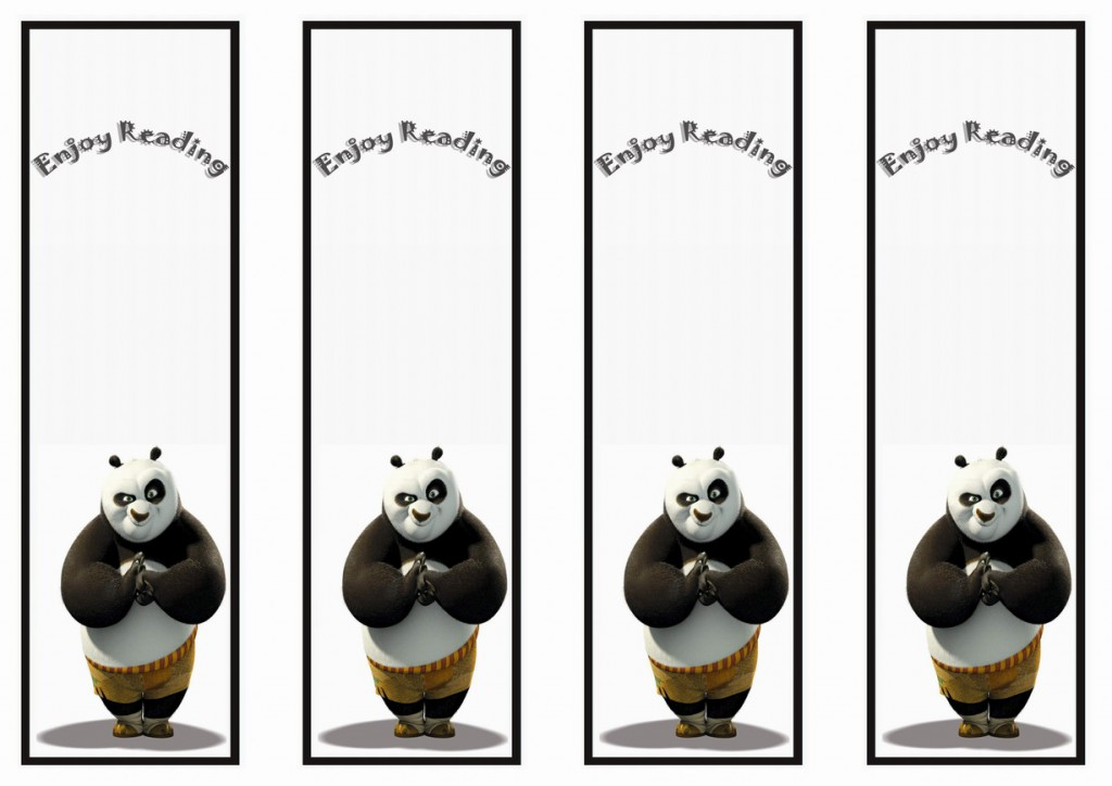 Kung Fu Panda Bookmarks Birthday Printable