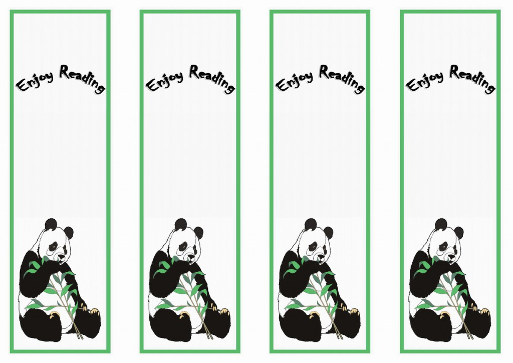 Kung Fu Panda Bookmarks – Birthday Printable