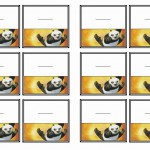 Kung Fu Panda Name Tags