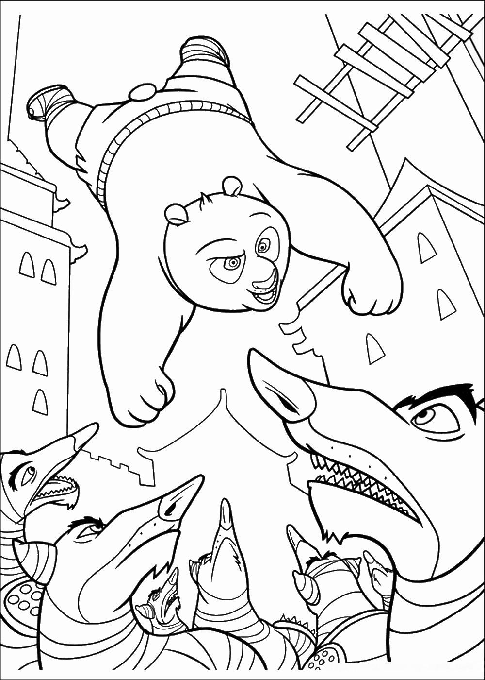 Kung Fu Panda Coloring Pages | Birthday Printable
