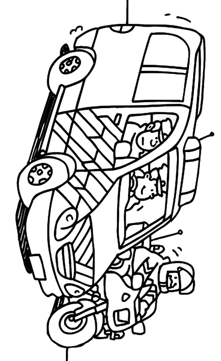 Police Coloring Pages Birthday