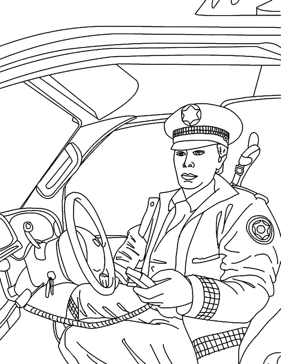 This is a picture of Revered Police Coloring Book
