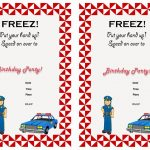 Police Birthday Invitations