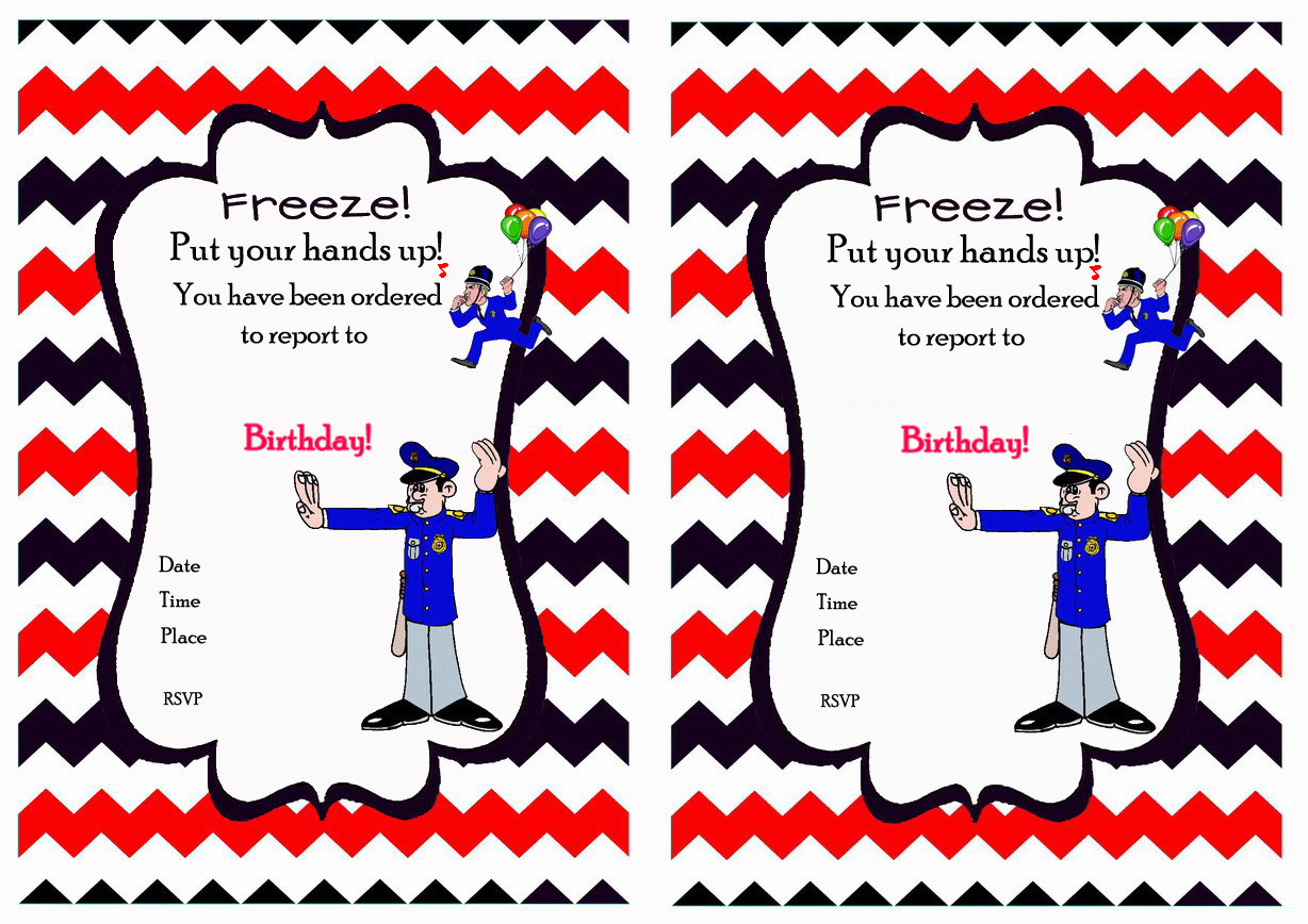 Police Birthday Invitations – Birthday Printable