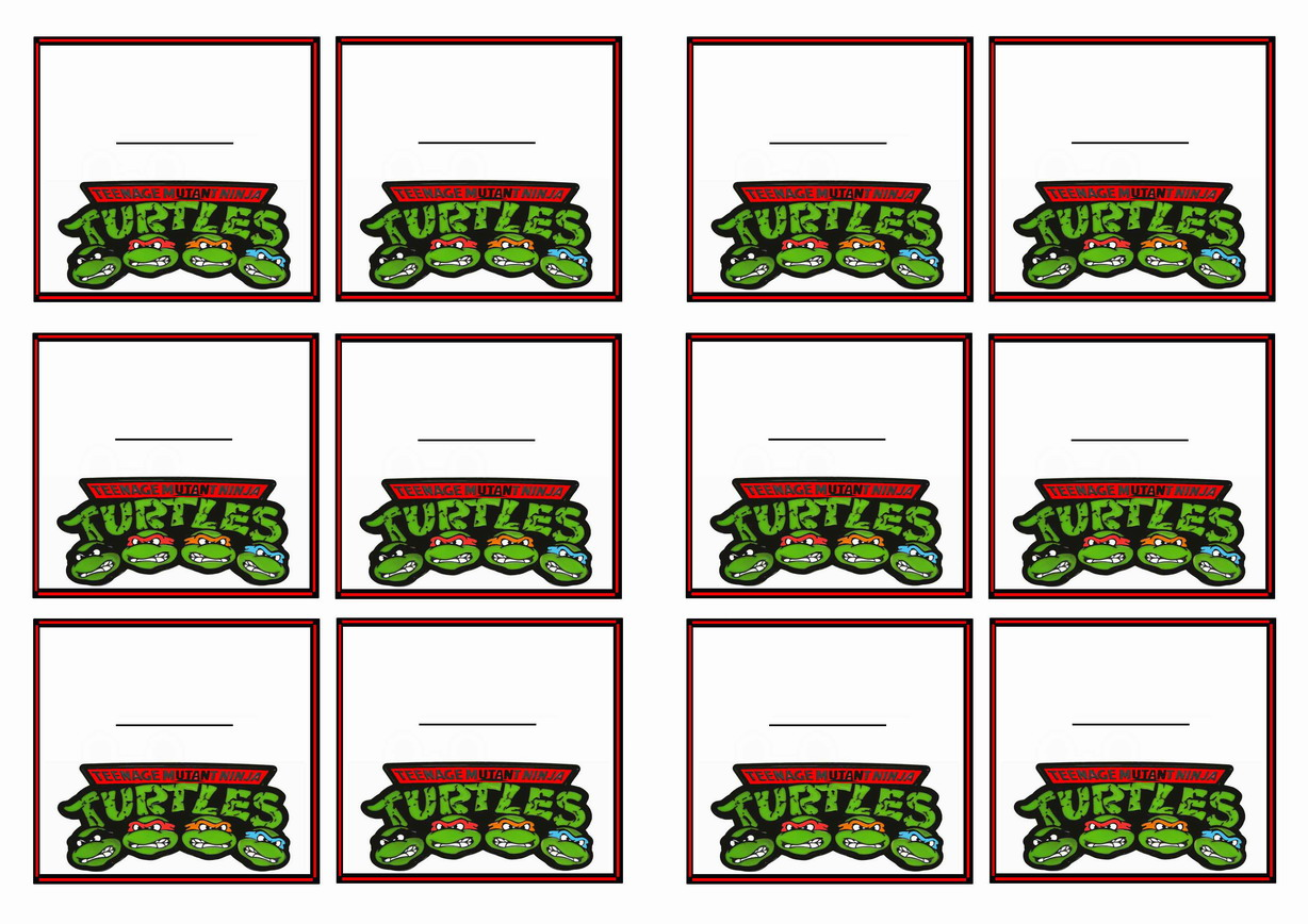 Teenage Mutant Ninja Turtles Name Tags – Birthday Printable