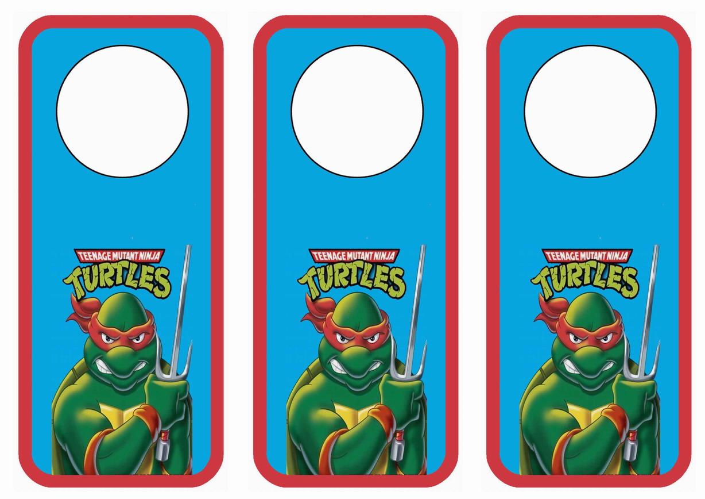 Teenage Mutant Ninja Turtles Door Hangers Birthday Printable