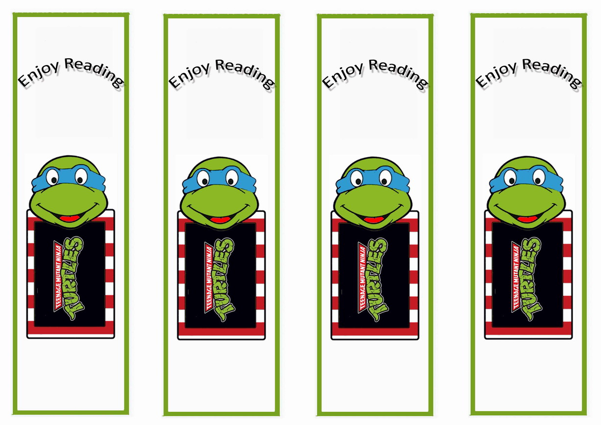 teenage mutant ninja turtles bookmarks