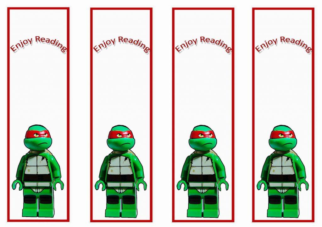 Teenage Mutant Ninja Turtles Bookmarks Birthday Printable