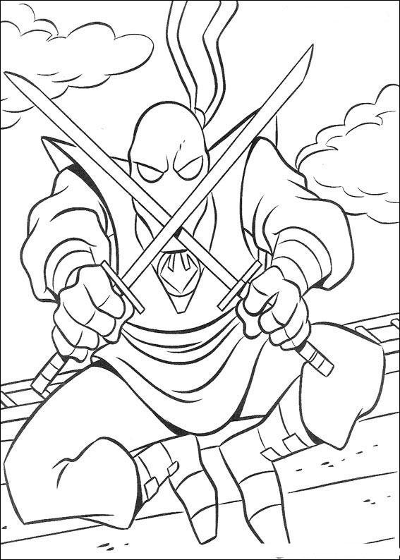 Teenage Mutant Ninja Turtles Coloring Pages – Birthday ...