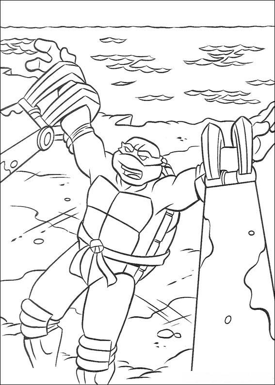 Teenage Mutant Ninja Turtles Coloring Pages | Birthday ...