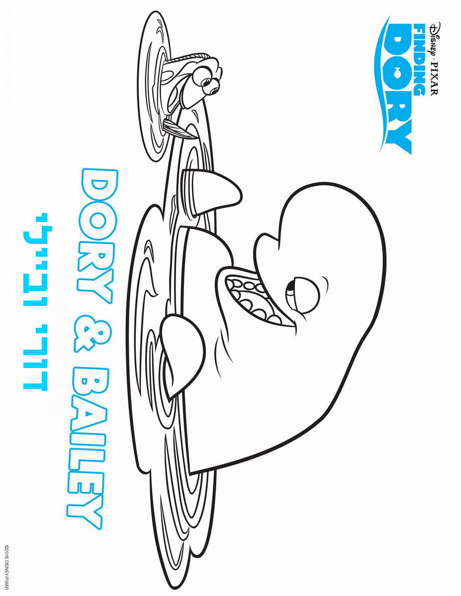 Finding dory coloring pages birthday printable for Finding dory coloring pages