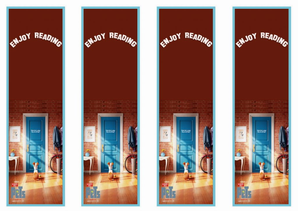 The Secret Life Of Pets Bookmarks