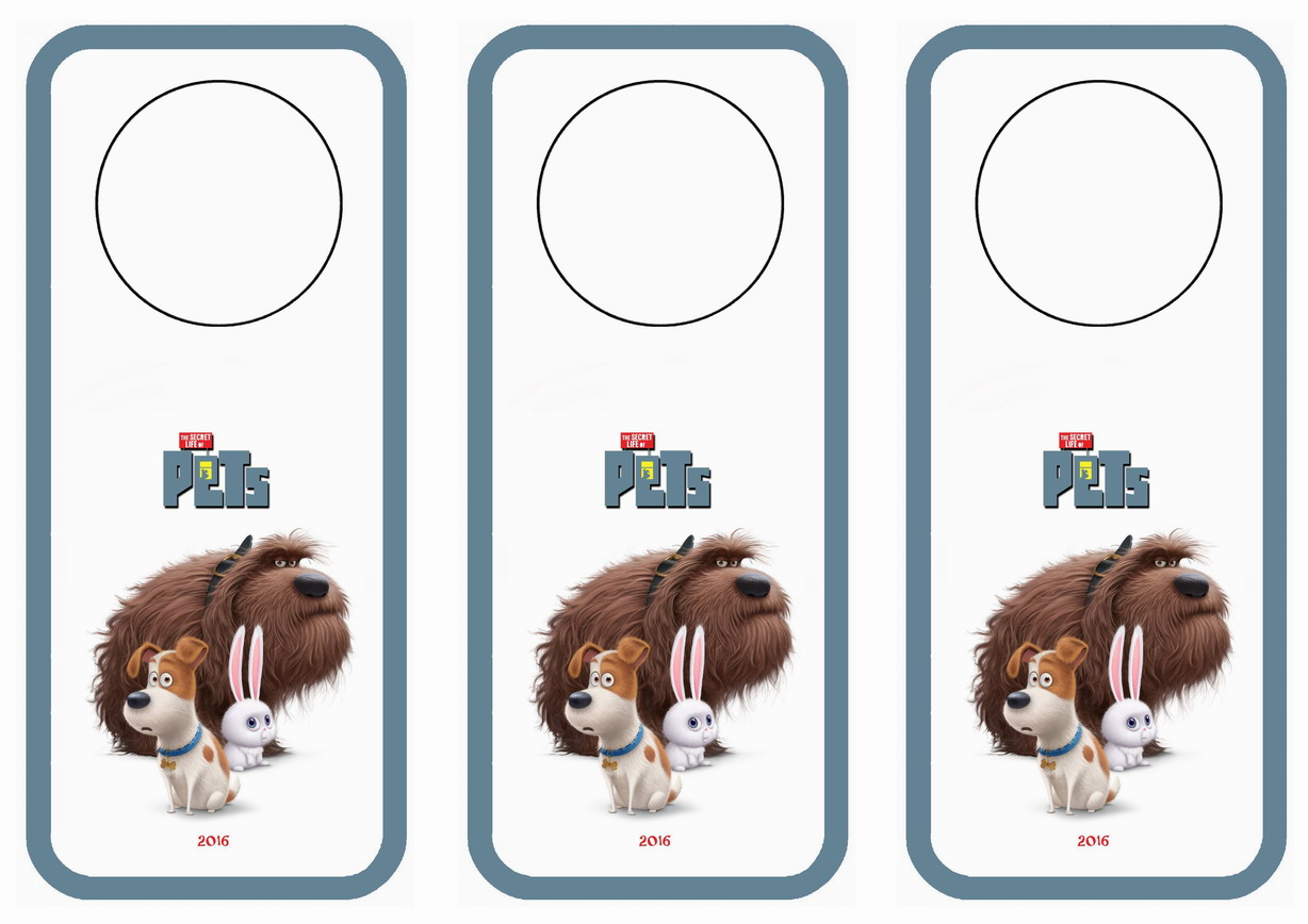 It's just a picture of Enterprising Secret Life of Pets Printables