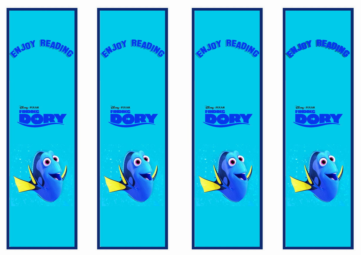 Finding Dory Bookmarks – Birthday Printable