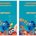 Finding Dory Birthday Invitations