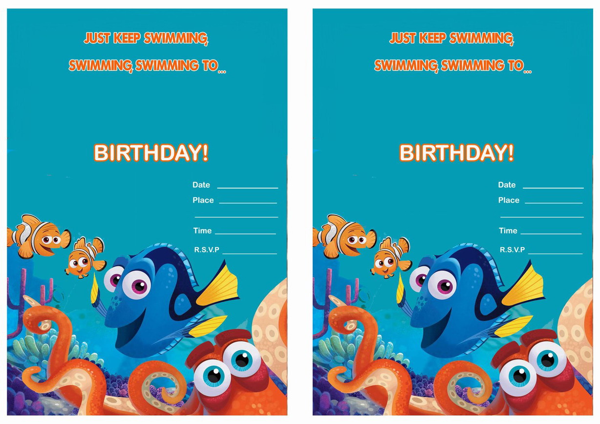 Finding Dory Birthday Invitations – Birthday Printable