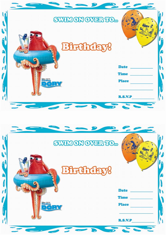 Finding Dory Birthday Invitations – Birthday Printable