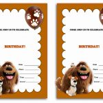 The Secret Life Of Pets Birthday Invitations