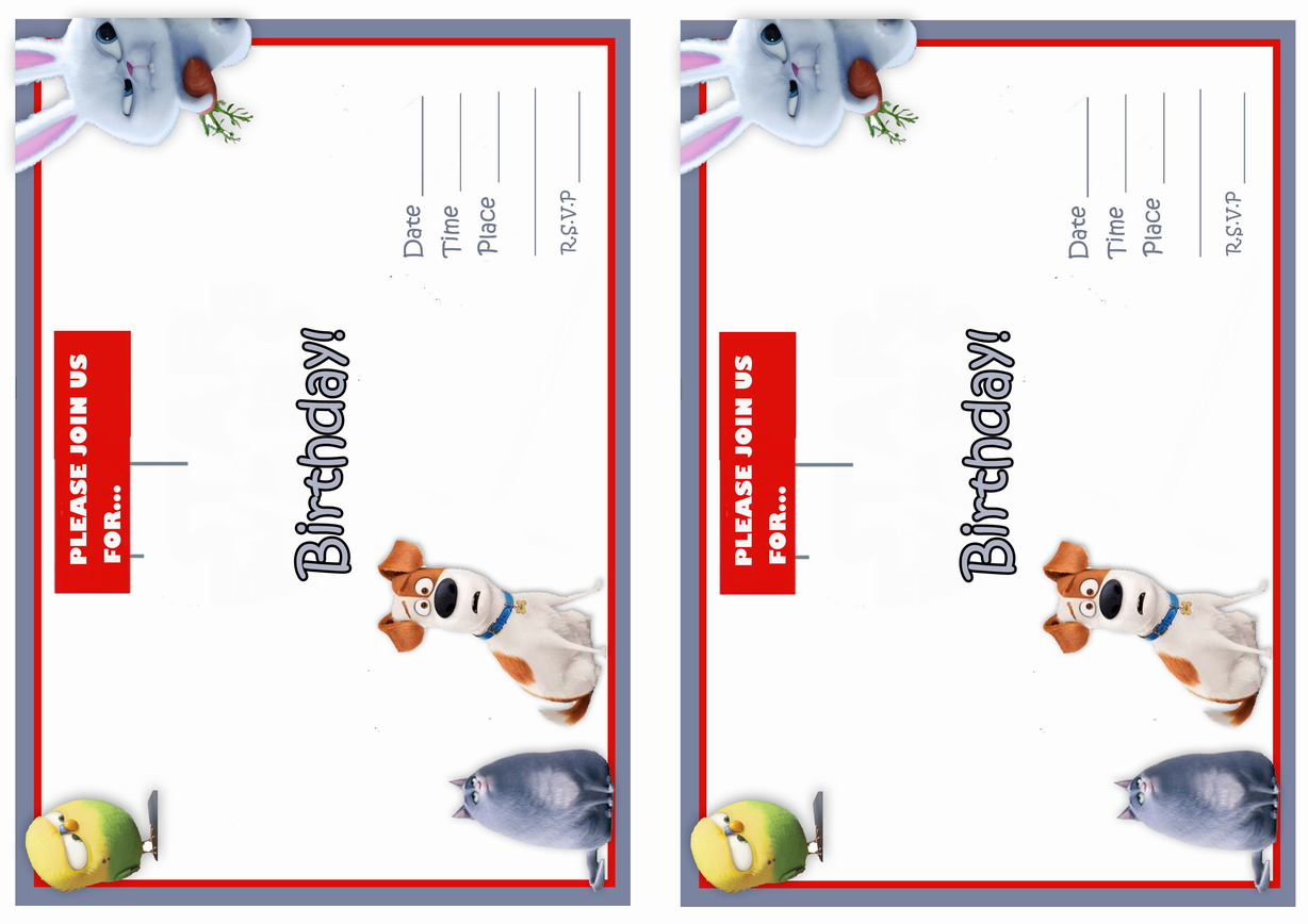 This is a graphic of Satisfactory Secret Life of Pets Printables