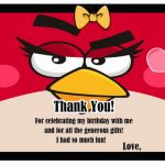 Angry Birds Thank you Cards