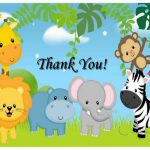 Animals Thank you Cards