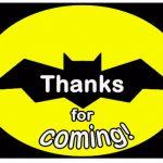 Batman Thank you Cards