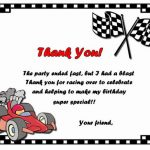 Cars Thank you Cards