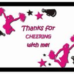 Cheerleading Thank you Cards