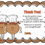Cooking and Baking Thank you Cards
