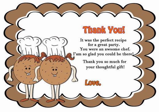 Thank You For Baking: Cooking And Baking Thank You Cards