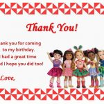 Dolls Thank you Cards