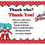 Dr Seuss Thank you Cards