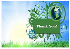 Eco Friendly Thank you Cards