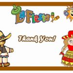 Fiesta Mexican Thank you Cards