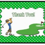 Golf Thank you Cards