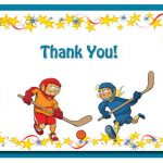 Hockey Thank you Cards
