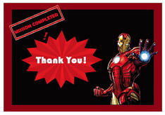 Iron Man Thank you Cards Birthday