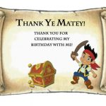 Jack and the neverland pirates Thank you Cards