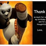 Kung Fu Panda Thank you Cards