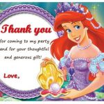 Little Mermaid Thank you Cards