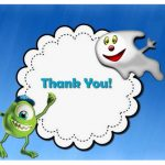 Monsters University Thank you Cards