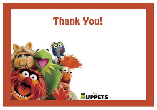 Muppets Thank you Cards | Birthday Printable