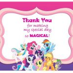 My Little Pony Thank you Cards